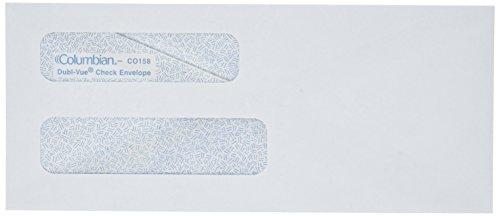 Columbian Business Envelopes, Gummed, 3 5/8 x 8 5/8 Inch, Double-Window, White, 500 Per Box (Columbian Envelope Business Envelopes)