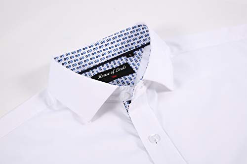Mens Dress Shirts Wrinkle Free Regular Fit Long Sleeve Bamboo Casual Button Down Shirts 4