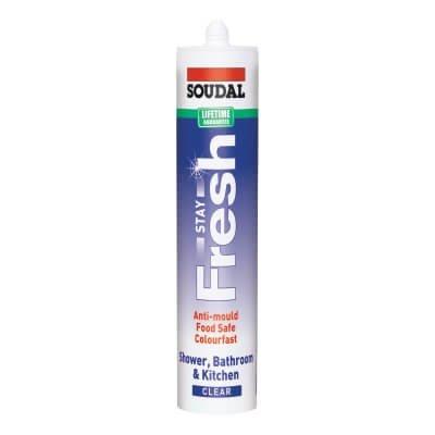Sellador Soudal Stay Fresh Sil Clear 300 ml