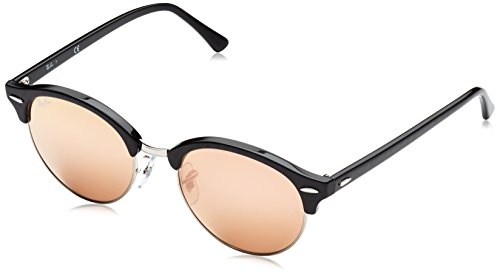 ray-ban-clubround-top-wrinkled-black-on-bl-frame-brown-mirror-pink-lenses-51mm-non-polarized