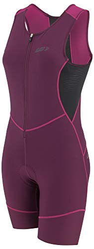 Louis Garneau Women's Tri Comp Breathable, Padded, Sleeveless Triathlon Cycling Suit, Black/Pink/Purple, Small ()