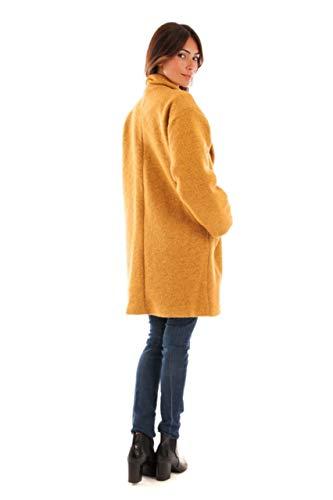 Le Femme Long Mi Comptoir Poches Creations Plaquées Du Manteau Bouillie Safran Doublure Laine Doucel wxnR77q501