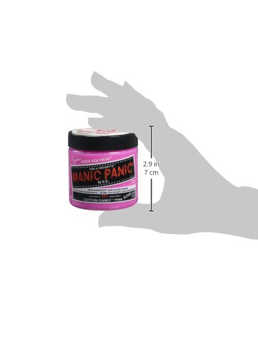 Manic Panic Semi-Permanent Hair Color Cream, Cotton Candy Pink 4 fl ...