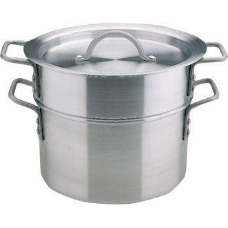 Aluminium Double Boiler Ideal for melting chocolate and cooking delicate sauces and custards. From Winware Vogue