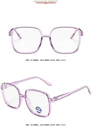 Miwaimao ブルーライトカット メガネ,トレンドトランスペアレントアンチブルーライトメガネキッズスクエアゲーミングブルーライトレイブロッキングコンピュータガールズボーイズ子供メガネ、TRパープル