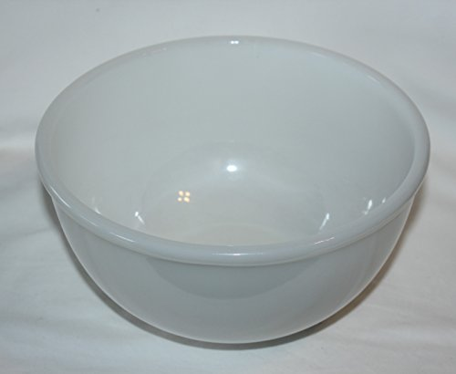 Vintage Anchor Hocking Fire-King White Milk Glass Mixing Bowl 8-1/4