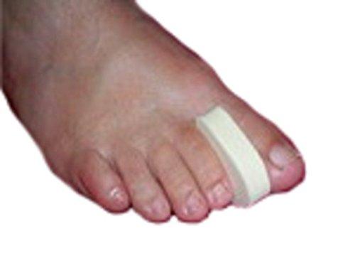 Toe Separators, 100 Spacers per Pack, Layered 1/4'' Foam, Large (2'' long x 1'' wide)