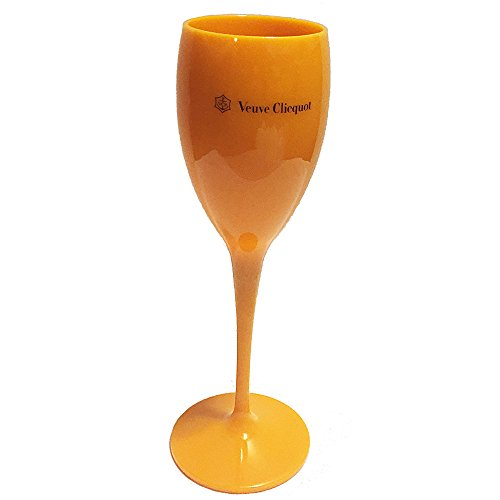 Veuve Clicquot Yellow Plastic Champagne Flute Glass (Best Champagne Veuve Clicquot)