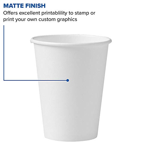 Solo 412WN-2050 12 oz White SSP Paper Hot Cup (Case of 1700) (12 oz (Case of 1700)) by Solo Foodservice (Image #2)