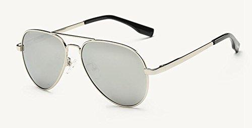 rond Blanc retro Lennon vintage style de inspirées Mercure en du polarisées cercle soleil métallique lunettes RfY7w