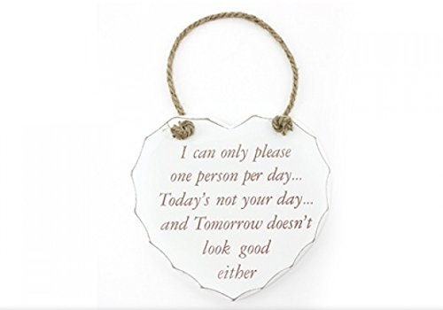 I Can Only Please One Person A Day, Today Is Not Your Day And Tomorrow Doesn't Look Too Good Either - Heart Wall Plaque