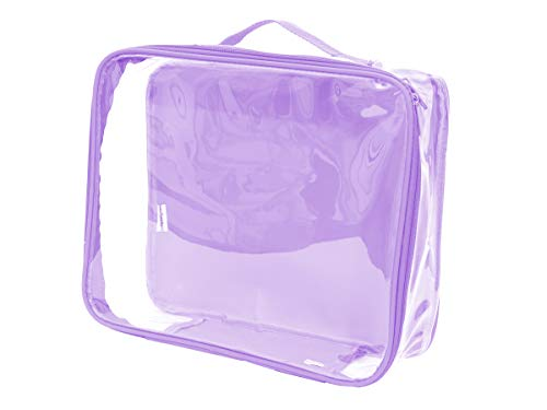 Clear Stadium Approved Tote Bag/Perfect for Concerts, Game Day, and Storage Cube (Lilac)