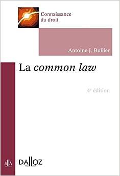 Book's Cover of La common law - 4e ed. (Français) Broché – 6 janvier 2016