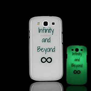 ZL Samsung S3 I9300 compatible Graphic/Special Design/Glow in the Dark Plastic Back Cover