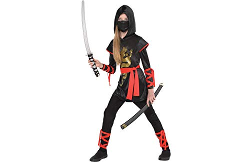 Girls Ultimate Ninja Costume - Medium (8-10)