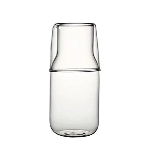 (Freedi 2 Piece Glass Water Set Bedside Water Night Carafe)