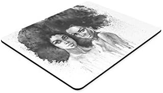 InterestPrint Young Tribal American Indian Woman Painting Rectangle Non Slip Rubber Mouse Pad Gaming Mousepad Mat with Designs