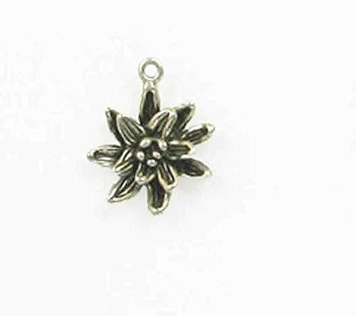 Pendant Jewelry Making/Chain Pendant/Bracelet Pendant Sterling Silver 3-D Columbine Flower - Charm Sterling Flowers Silver 3d