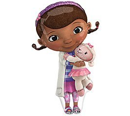 ONE (1) Doc McStuffins XL Happy Birthday PARTY balloons Decorations Supplies -