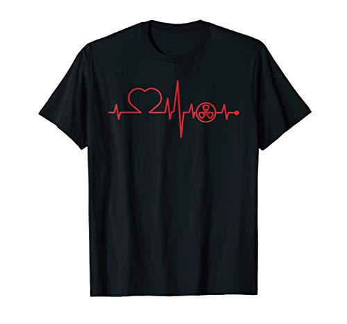 Love Radiology Technician heart beat gift t-shirt men women