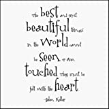 Best & Most Beautiful - Helen Keller Black and White Magnet
