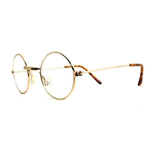 Amazon.com: John Glasses - Gold Clear Costume Accessory: Clothing