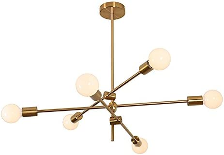 MOERUN Chandelier Pendant Lighting Brushed Bronze Finish Fixture Hanging Lamp Flush Mount