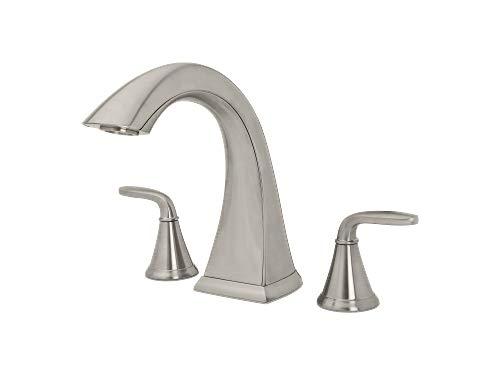 Pfister 806-PDKK-R Pasadena 2-Handle High-Arc Deck Mount Roman Tub Faucet in Brushed Nickel -
