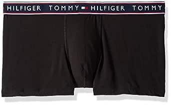 Tommy Hilfiger Men's Underwear Cotton Stretch Trunk, Black, Small