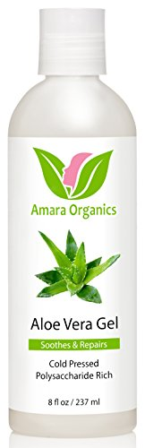 - Amara Organics Aloe Vera Gel from Organic Cold Pressed Aloe, 8 fl. oz.