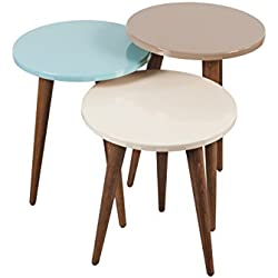 Decorotika - Tale 3-Piece Accent Nesting Table Set