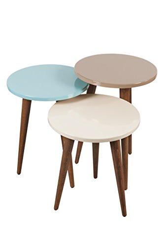 Price comparison product image Decorotika - Tale 3-Piece Accent Nesting Table Set