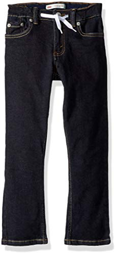 - Levi's Boys' Little Slim Fit Elastic Waistband Jeans, Rinse with Drawstring, 5