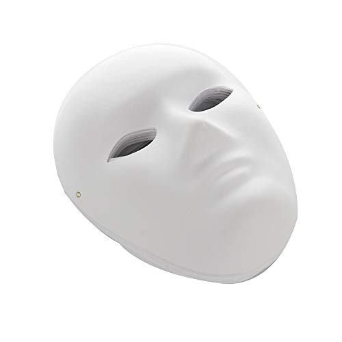 NMFIN DIY White Mask, 12 PCS Paper Full Face Opera Masquerade Mask Blank Mask Plain Mask Paintable Paper Mask Cosplay Masks Halloween Mask Mardi Gras Mask for Male Female]()
