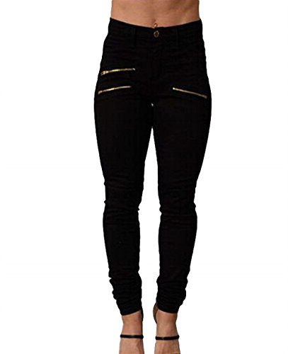 Elegante Pants Matita Slim Base A Donna Pantaloni Fit Alta Moda Colori Libero Pantaloni Con Nero Casual Donna Vita Bleistift Cerniera Solidi Pantaloni Hose Tempo Moda Grazioso qSwpgAE1