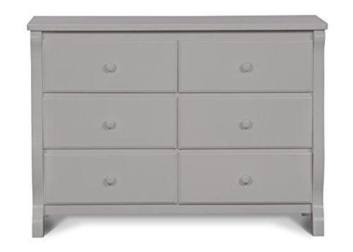 Delta Children Universal 6 Drawer Dresser, Grey
