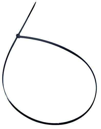 Cambridge 50 Pcs- 48  175 Lbs Tensile Strength, Heavy Duty Nylon Cable Ties, UV nero by Cambridge Resources