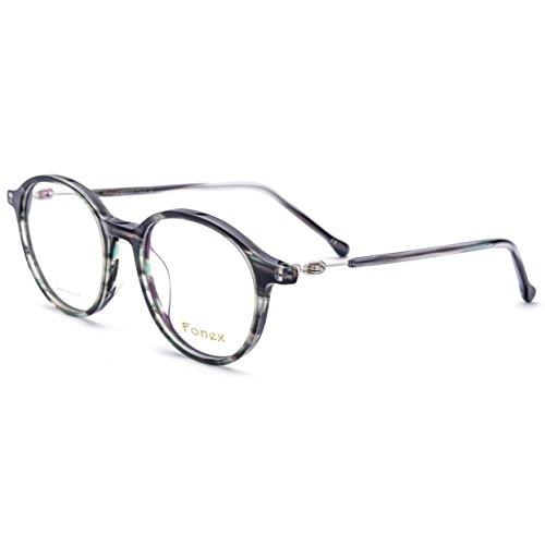 FONEX Prescription Eyeglasses Spectacles Myopia Optical Eyewear Frames Tb5202 (gray, 48)