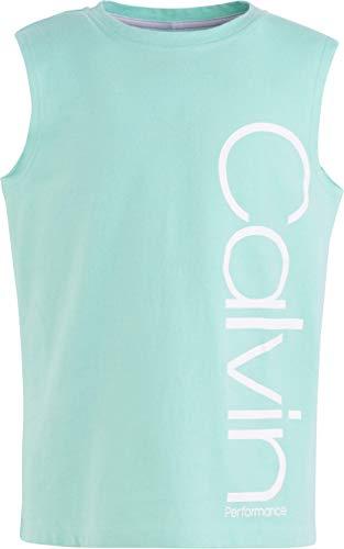 - Calvin Klein Big Girls' Performance Logo Tank Top, Mint, Large (12/14)