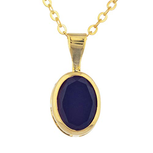 1.5 Ct Genuine Black Onyx Oval Bezel Pendant Necklace 14Kt Yellow Gold Rose Gold Silver