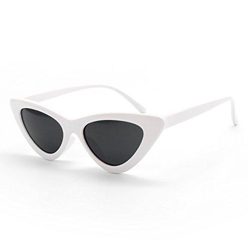 Livhò Retro Vintage Narrow Cat Eye Sunglasses for Women Clout Goggles Plastic Frame (Plastic Sunglasses Vintage)