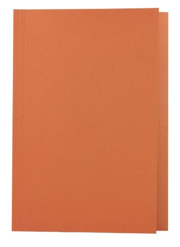 Concord Square Cut Folder Recycled Pre-Punched 270gsm Foolscap Orange Ref 43206 [Pack of 100]