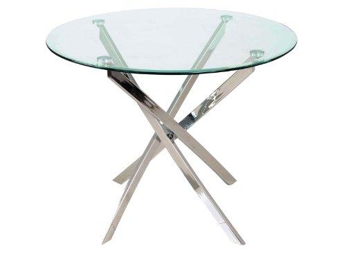 Glastisch rund  Design Glastisch Esstisch 90cm Agis Küchentisch Rund: Amazon.de ...