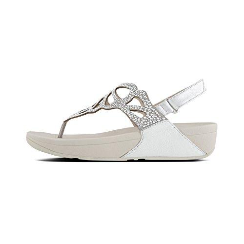 FitFlop Argenté TM 011 Femme Sandal Tongs Bumble Crystal Silver rE1qwYzr