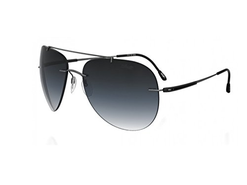 Silhouette Aviator Sunglasses Adventurer (small aviator fit gunmetal/grey gradient lens, one color)