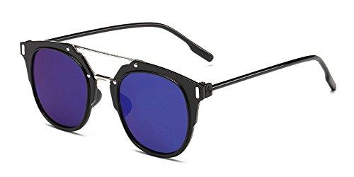 Vintage Bozevon Femmes Pc Et Frame bleu Brillant Mode Hommes De Mercure Soleil Lunettes Noir f66ZRAqw