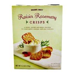 Trader Joe's Raisin Rosemary Crisps, 5.3 Oz (Pack of 2)