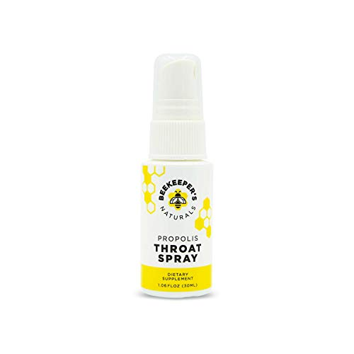 - Bee Propolis Throat Spray by Beekeeper's Naturals   Premium 95% Bee Propolis Extract   Natural Throat Relief and Immune Support   Great for Kids