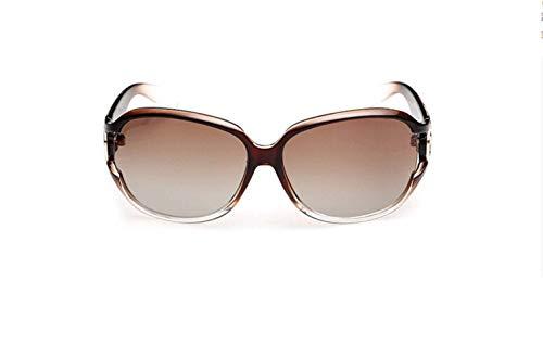 Marco Y De Clásico Elegante Polarizadas Gafas De De Lentes De Gran Gradient Sol Moda Gafas Pc Europea Salvaje Gafas liwenjun Sol Marrón Estadounidense Zw5Aq0I