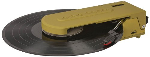 Crosley CR6020A-GR Revolution Portable USB Turntable with Software - Green Record Player